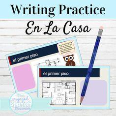 Spanish Floor Plan Writing Practice
