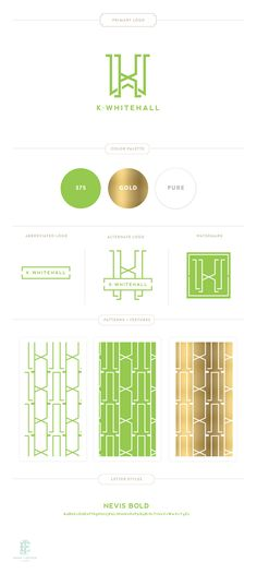 k. Whitehall Brand Design by Emily McCarthy // style guide // brand board // identity // branding
