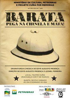 """Proposta de cartaz para a peça """"Barata, pega na chinela e mata!"""" de Edyr Proença do grupo Cuíra do Pará, em cartaz no teatro Cuíra."""