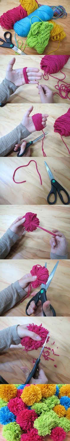 How to make a wool pom-pom with your fingers