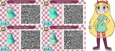 Star Butterfly dress qr code - Animal Crossing new leaf