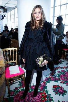 Olivia Palermo attends the Joanna Mastroianni Fall 2013 fashion show  at Lincoln Center on February 10, 2013 in New York City.