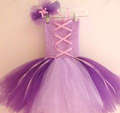 Tutu Dress - Rapunzel Inspired Tutu Dress and Headband