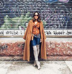 Layered in camel shades. Thanks for the coat umma. Photo by @brandonosorio www.liketk.it/SorO #liketkit