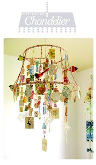 Make for a lovely light fixture over a new babys room...full of shower/new baby cards.
