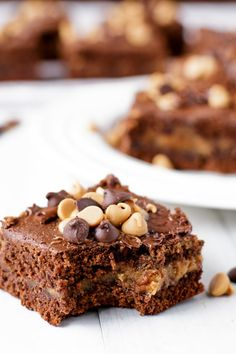 Chocolate Peanut Butter Cup Brownies - Cafe Delites