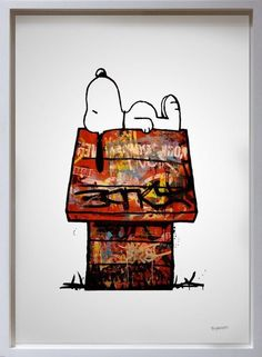 Snoopy and his Newly Graffitied House, Charlie Brown.