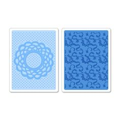 Sizzix Textured Impressions Embossing Folders 2PK - Doily & Lace Set