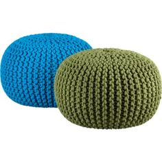 Poufs like this, if we can find the right color, would be great ottomans/extra seating in the music room.