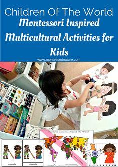 Children of the World Multicultural Activities for Kids | Montessori hands-on activities | Preschool classroom