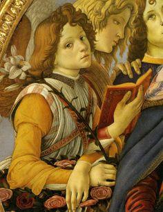 Sandro Botticelli - Madonna de la granada, 1487 (Detalle)