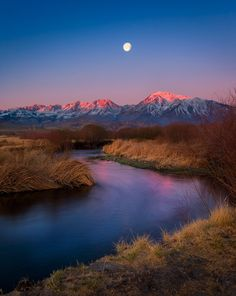 Owens River's Big Moon by Celso Mollo on 500px