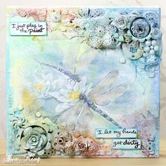 Craft and Hobby Association 2015 Project: Mixed Media Dragonflies - Part 1 ~ Under a creative spell