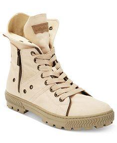 Levi's Shoes, Canvas Sahara Hi Top Boots