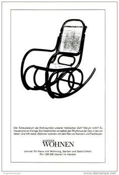 Original-Werbung/ Anzeige 1965 - MOTIV SCHAUKELSTUHL / ZEITSCHRIFT SCHÖNER WOHNEN - ca. 180 x 240 mm