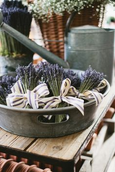 Dried French Lavender Nosegays with French cotton ribbon - great as wedding guest favours