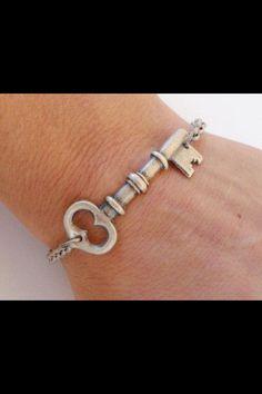 Key Bracelet! Need heart bracelet to balance the look!