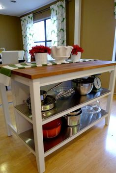 stenstorp ikea kitchen island, white, oak $399.00 | for the home
