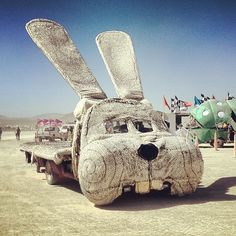 Rabbit art car!