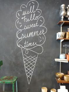 Summer ice cream chalkboard - Chalk Art İdeas in 2019 Chalkboard Doodles, Chalkboard Tags, Kitchen Chalkboard, Chalkboard Drawings, Chalkboard Lettering, Chalkboard Designs, Chalk Drawings, Chalkboard Art Quotes, Chalkboard Paint