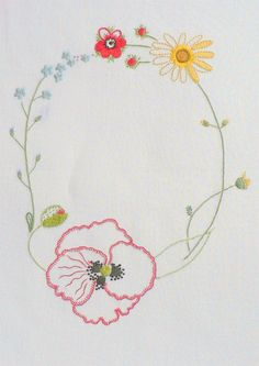 Field flowers alphabet - O | The French Needle | French Needlework Kits, Cross Stitch, Embroidery, Sophie Digard