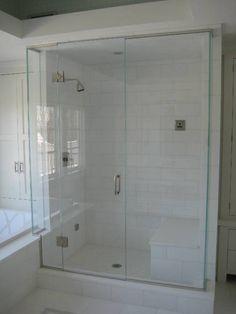 Full glass shower door