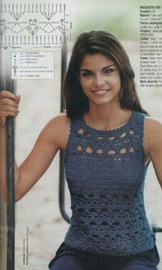 Picasa Web Albums. PICTURE ONLY. Crochet woman's top with pattern diagram