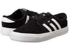 adidas Skateboarding Seeley I (Infant/Toddler) (Black/Core White/Black) Skate Shoes