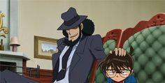 Jigen and Conan - Modern Studio Ghibli, Heiji Hattori, Lupin The Third, Detective Conan Wallpapers, Gosho Aoyama, Kaito Kid, Good Anime Series, Detektif Conan, Magic Kaito