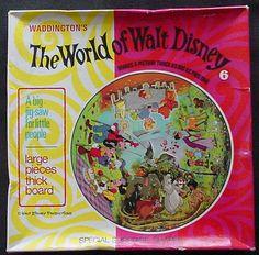 Disney VINTAGE HISTORY 1960'S CIRCULAR 4 PART  WORLD OF WALT DISNEY PUZZLE