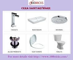 #Cera #Sanitaryware -  For more details visit http://www.100bricks.com/