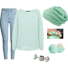 Sin título #595 by candelita-del-pino on Polyvore featuring moda, 360 Sweater, H&M, MANGO, Eos and claire's