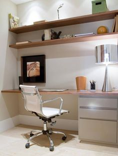 You won't mind getting work done with a home office like one of these. See these 20 inspiring photos for the best decorating and office design ideas for your home office, office furniture, home office ideas Home Office Space, Home Office Design, Home Office Decor, Office Furniture, Home Decor, Office Ideas, Office Designs, Desk Office, Office Style