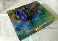 MDF mixed media box #mixedmedia#mdf#trinketbox#flowers