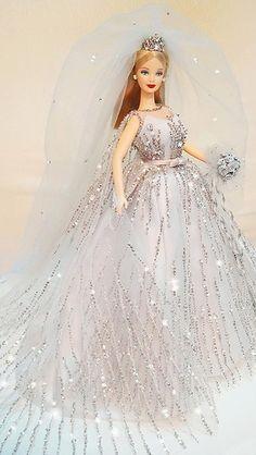 barbie doll gowns..1999 Millennium Bride Barbie by possiblezen flickr. 12 33 3  .. 1...3 qw2