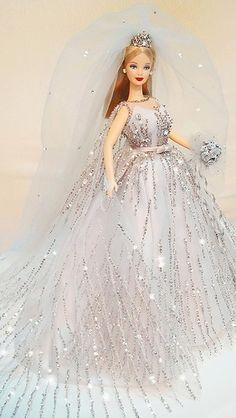 barbie doll gowns..1999 Millennium Bride Barbie by possiblezen flickr. 12 33 3  .. 1...3 qw2