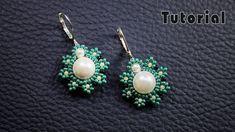 Pearl beaded earrings    Diy earrings    Quick & Easy to make beaded Earrings - YouTube