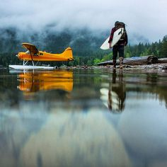 """""""""""Last May, I took a road trip from Oregon to Washington that ended with a float plane ride to find remote waves. It drizzled on us the whole time, but in…"""" Adventure Awaits, Adventure Travel, Bush Plane, Float Plane, Plane Ride, Wanderlust, Flying Boat, Learn To Surf, Surfs"""