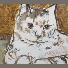 Ruskin Spear tabby cat painting for sale trent art - Ruskin Spear for sale Cat Allergies, Collaborative Art, Cat Drawing, Pretty Cats, Gravure, Animal Paintings, Cat Art, Art Gallery, Illustration Art