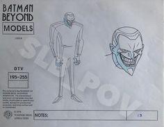 Batman Beyond - Joker - Production Model Sheet Comic Art Joker Animated, Batman The Animated Series, Comic Books Art, Comic Art, Book Art, Batman Beyond Joker, Bruce Timm, Art Friend, Character Design Animation