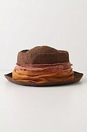 linen brown layers hat.