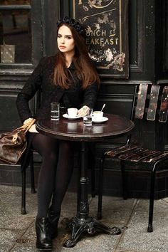 'lady at the cafe   ~~  X ღɱɧღ ♫    Bits, Pieces & Slices of Life