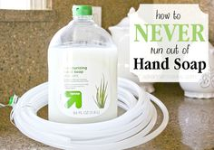 Okay my title might be slightly misleading because obviously at some point you will run out of hand soap, but with this trick it will be a LONG TIME before you do. A few months back I was refilling the soap dispenser that came with our kitchen faucet, you know, the kind that goes under …