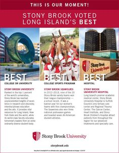 """Stony Brook University is once again """"Best of Long Island!"""""""