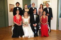 Count Bjoern Bernadotte Marries Sandra Angerer On Mainau Island on 5/7/09. In Photo: Count Bjoern Bernadotte &wife Countess Sandra,Crown Princess Victoria of Sweden. Family (back L-R) Phillipp Haug, Countess Diana Bernadotte, Count Christian, Countess Catharina Bernadotte, Romuald Ruffing