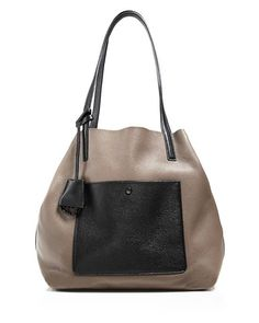 5962812b4014 NWT Michael Kors Extra Large Colgate Grab Bag Tote Elephant Gray Black  Leather  MichaelKors  . eBay