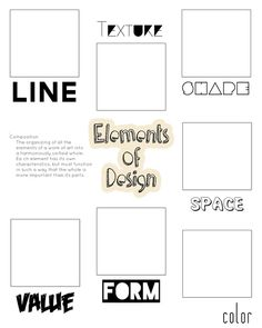 elements of design scavenger hunt