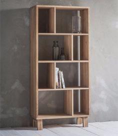 Hudson Living Kielder Oak Bookcase