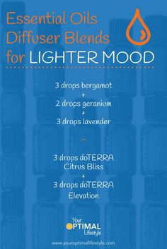 Black pepper, bergamot and geranium… essential oils blends to use in your diffuser to boost your mood naturally.