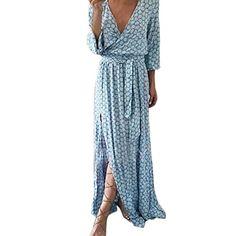 Women Long Sleeve V Neck Printed Long Maxi Dress With Belt Plus size Bohemian Vintage dress Vestido festa longo party Dress Clothes For Pregnant Women, Clothes For Women, Casual Dresses For Women, Sexy Dresses, Winter Dresses, Summer Dresses, Dress Winter, Chiffon Shirt Dress, Sleeved Dress